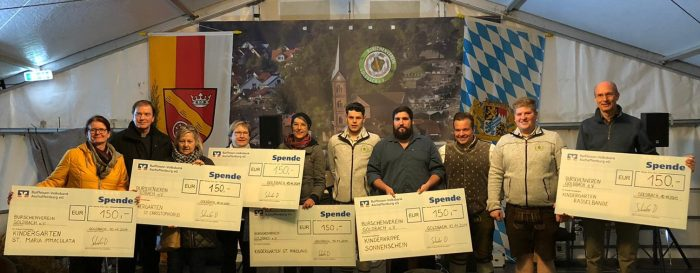 Goldbach für das Gute – Spendenübergaben für den wohltätigen Zweck