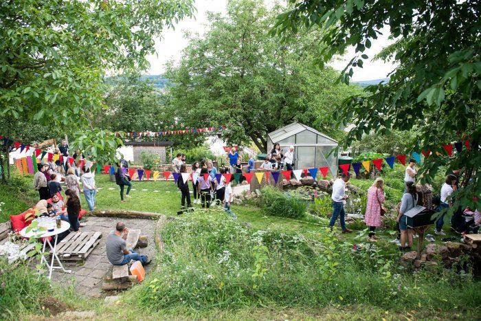 Schulgarten Einweihung der offenen Ganztagsschule